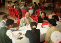 Members of civil society, the local business community and regional youth groups speak with members of the Advisory Commission on Rakhine State at Kyawkpyuh Hotel, Kyawkpyuh Township on January 17, 2017. (Photo by Flair Eyes/Advisory Commission on Rakhine State)