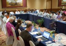The Commission hears input on the interim and final report from leading national civil society organizations on May 11, 2017. (Photo by Flair Eyes/Advisory Commission on Rakhine State)