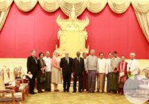 The Advisory Commission on Rakhine State meets with President of the Republic of the Union of Myanmar in Naypyidaw on December 5, 2016. (Photo by Aung Kyaw Moe / Advisory Commission on Rakhine State)